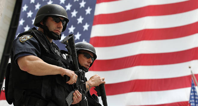 New York Police Department tactical police officers