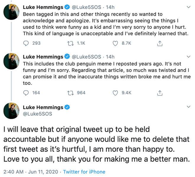 Luke Hemmings' Tweets