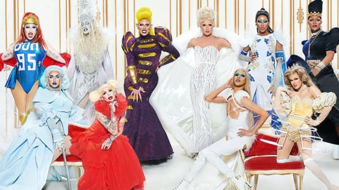 The season one cast of RuPaul's Drag Race Canada.