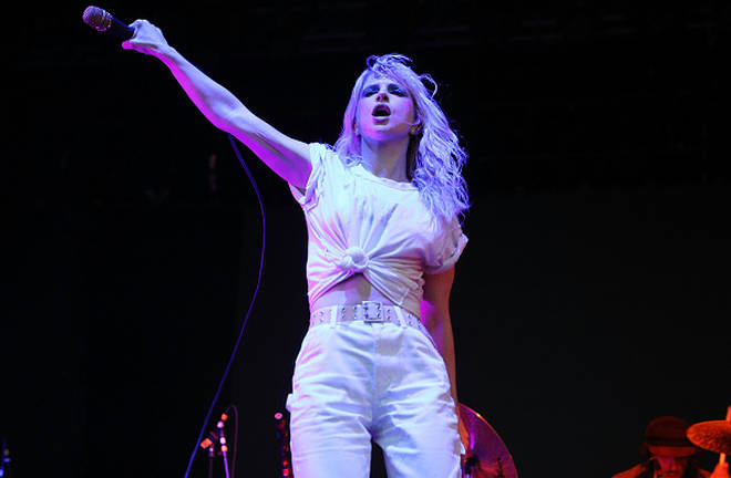 Hayley Williams performs on stage