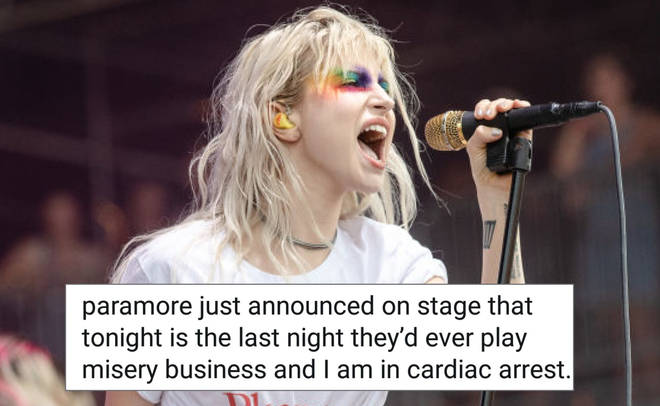 Hayley Williams performing on stage