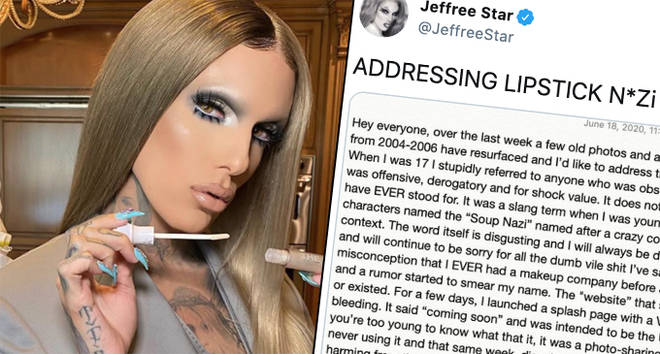 "Jeffree Star apologises for ""offensive"" Lipstick Nazi website"