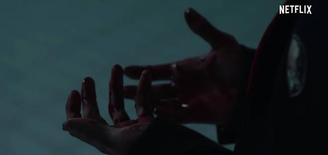 Elite Netflix bloody hands