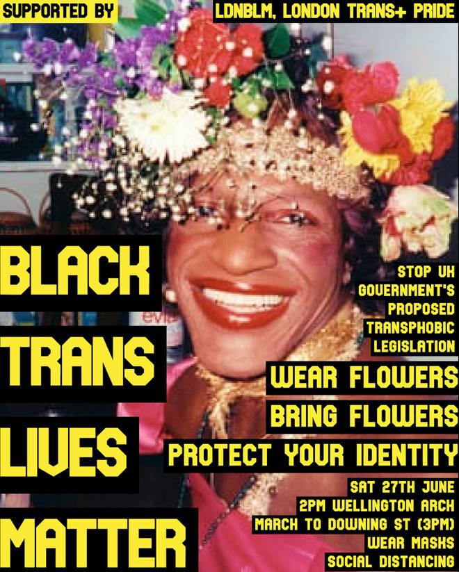 Black Trans Lives Matter Protest London