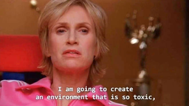Glee's Sue Sylvester toxic environment memes