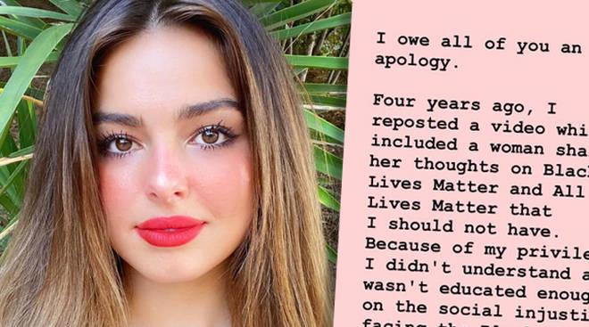 Addison Rae apologises for all lives matter post