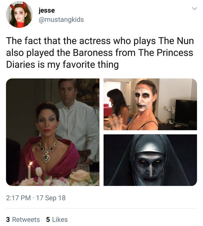 Twitter reacts to Nun actress