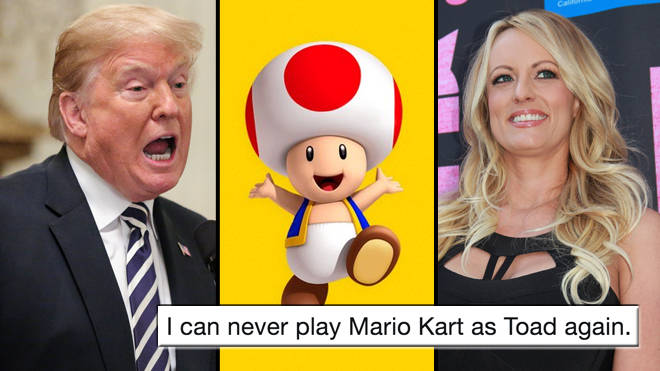 Image result for Stormy Daniels said Trumps cock looked like the mushroom in Mario Kart