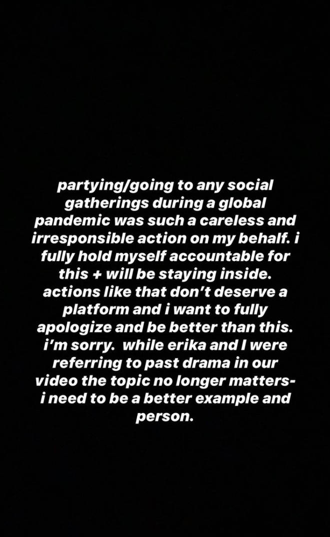 Tana Mongeau Apology