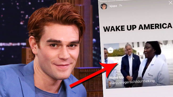 "KJ Apa called out for sharing ""dangerous"" coronavirus conspiracy video"