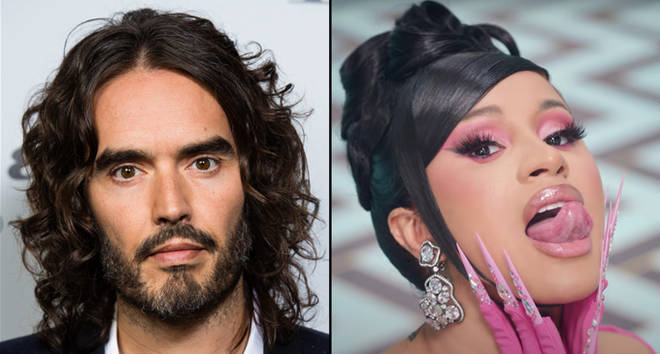 Russell Brand and Cardi B