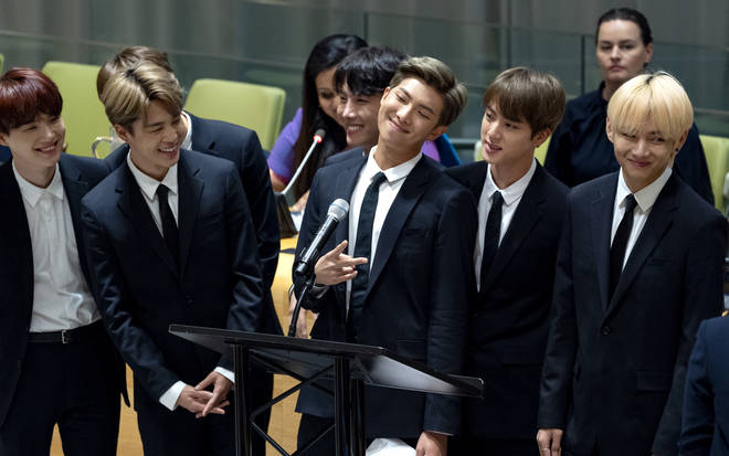 BTS attend a meeting at the United Nations