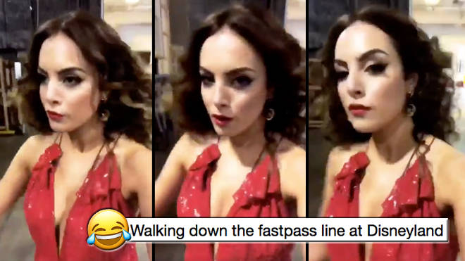 The internet just turned a video of Liz Gillies strutting into a HILARIOUS meme