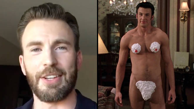 Chris Evans addresses nude Instagram accident in the most iconic way