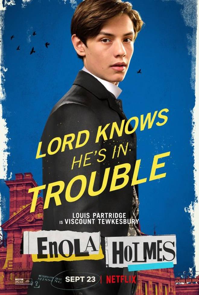 Louis Partridge as Tewkesbury in Enola Holmes