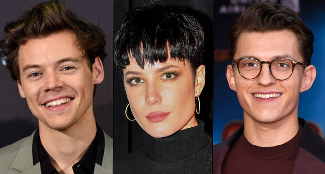 Harry Styles, Halsey and Tom Holland