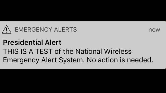 Presidential Alert Screenshot