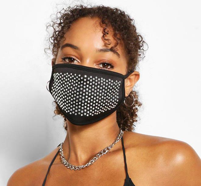 Diamante Face Mask