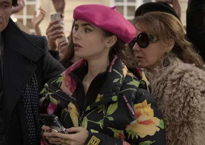 Where to buy: Emily in Paris floral puffer jacket
