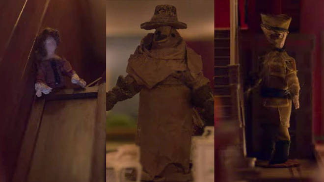 Flora's dollhouse in Bly Manor: Perdita, Plague Doctor and Soldier