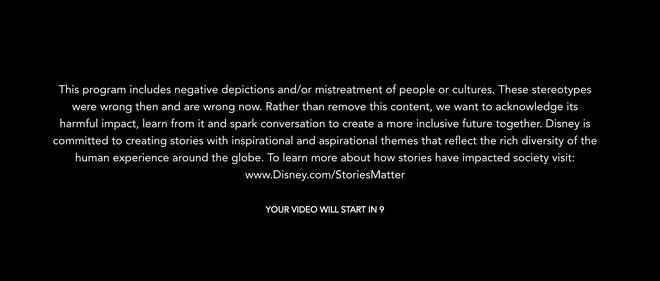 Disney+ viewers will now see this content warning before certain films