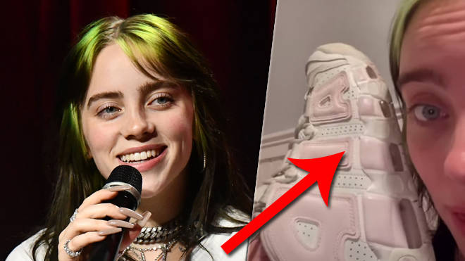 Billie Eilish shoes: Are they pink and white or green and white?