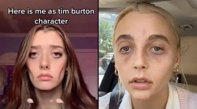 Tim Burton character challenge on TikTok