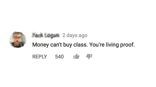 A comment on Gigi Gorgeous' Walmart video