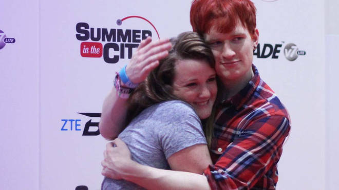 Luke Cutforth meets a fan at SITC