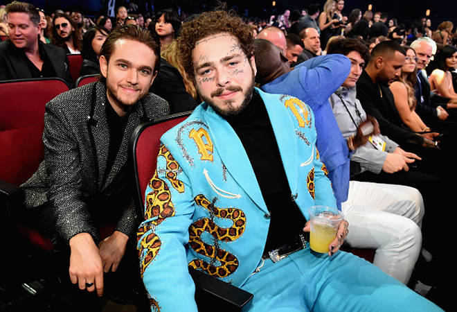 Post Malone and Zedd at the 2018 AMAs