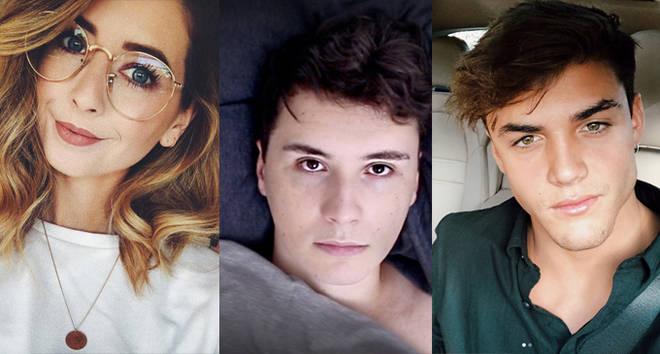 Zoella, Dan Howell, Grayson Dolan