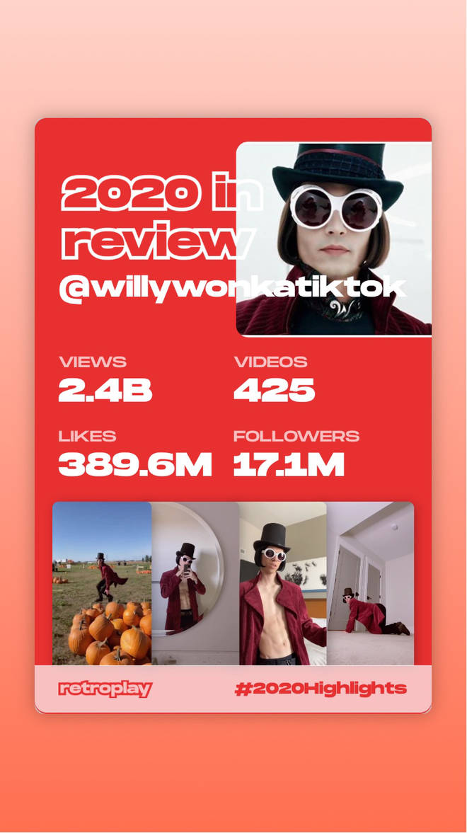 Retroplay shows you your top TikTok stats of 2020