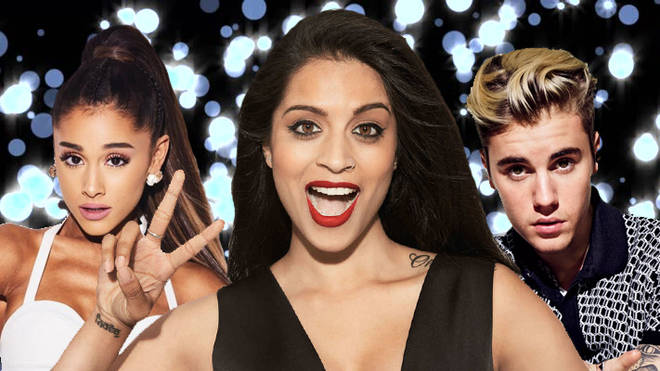Ariana Grande, Lilly Singh and Justin Bieber