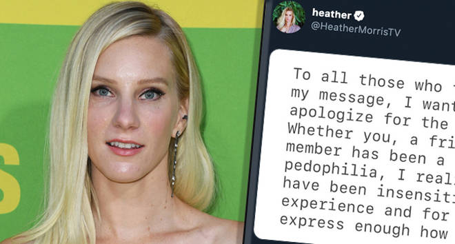 "Glee&squot;s Heather Morris apologises for ""insensitive"" comments"