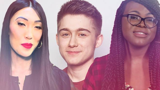 Transgender YouTubers Julie Vu, Alex Bertie, Kat Blaque