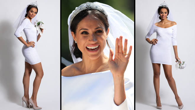 Meghan Markle and Yandy's Halloween costume inspired by her wedding dress