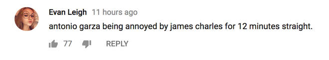Comment on Confronting James Charles