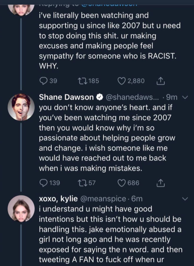 Shane defending his documentary