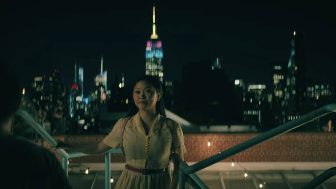 To All the Boys 3: Empire State Building was lit up in the film's signature colours