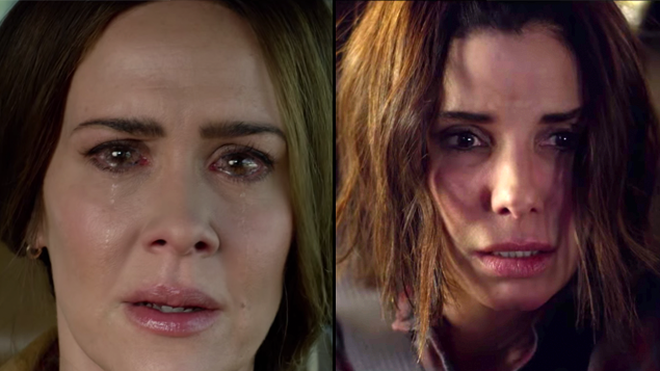 Sarah Paulson and Sandra Bullock in 'Bird Box' on Netflix