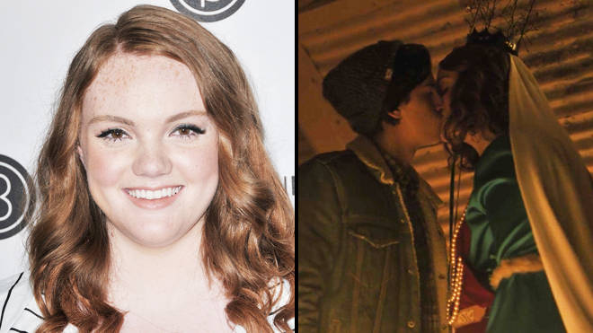 Shannon Purser as Ethel and Cole Sprouse as Jughead on 'Riverdale'