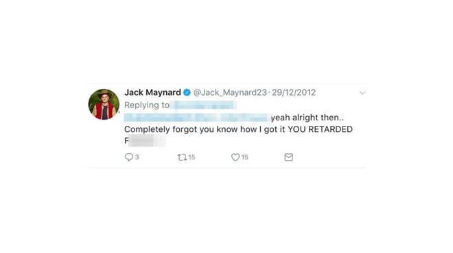 Jack Maynard offensive tweet