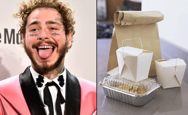 Post Malone takeaway food