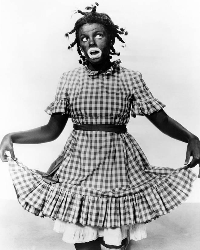 Judy Garland in blackface