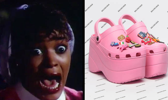 Thriller girl screaming and Balenciaga crocs