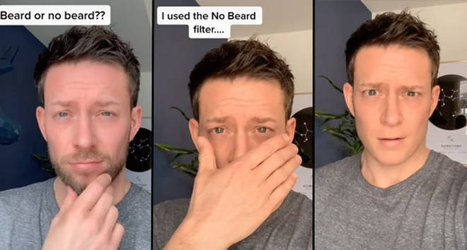 Here's how to use the no beard filter on TikTok and Snapchat