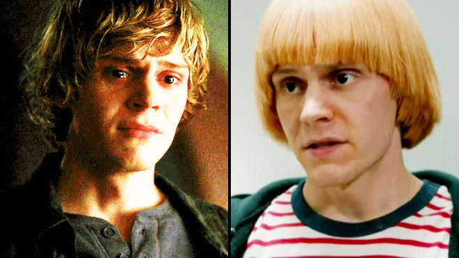 Evan Peters as Tate Langon and sporting a new wig in 'American Horror Story'