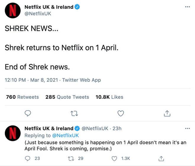 Netflix confirm Shrek is returning