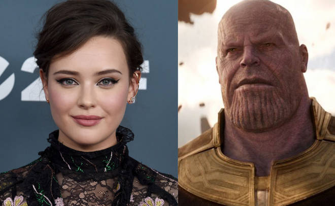 Katherine Langford and Thanos