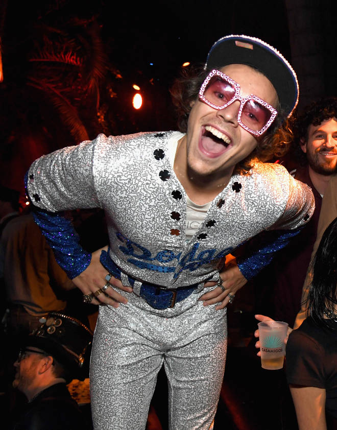 Harry Styles embodied Elton John for the Casamigos Halloween Party